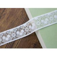 Best Water Soluble Poly Milk Embroidered Floral Lace Ribbon Trim Customized wholesale