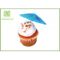Best 100% Birch Wood Wedding Cupcake Toppers Cupcake Toothpicks With Flag wholesale