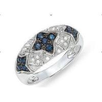 Buy cheap Diamond & sapphire ring from wholesalers