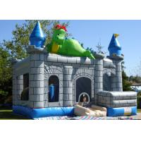 Best Dinosaur Design Bouncy Jumping Castles 0.55mm Thickness PVC Long Lifetime wholesale