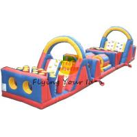 Best PVC Tarpaulin Inflatable Castle Bouncer / Obstacles For Parties wholesale