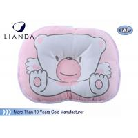 Best Head Rest Baby Memory Foam Pillow Prevent Flat , Pink Baby Nursing Pillow wholesale