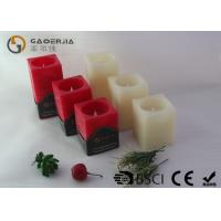 Best Square Wax Flameless Led Candles Red / Ivory Color For Holiday wholesale