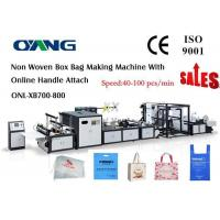 Best High Speed Ultrasonic Sealing Non Woven Bag Making Machine Approved CE wholesale