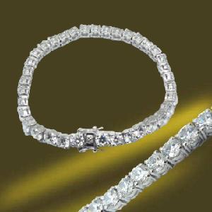 Best 925 Sterling Silver/Brass Hearts and Arrows CZ Bracelet wholesale