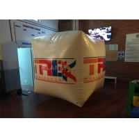 Best Full Printing Inflatable Cube Swim Buoy For Water Event , Floating Water Marker Buoy Inflatable Square Swim Buoy wholesale