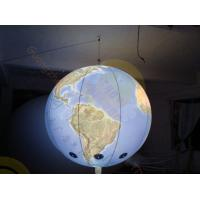 0.18mm PVC Inflatable Helium Balloons Attractive globe For Science Exhibition