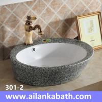 Best 2016 new model fashion sanitary ware double glazed grey and white color art basin wholesale