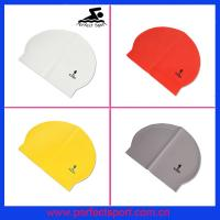 Best colorful cheap latex swim cap wholesale