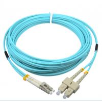 Corning cable SC/PC-LC/PC OM3 50/125 2.0mm aqua fiber optic hybrid jumper