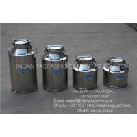 China Safety Double Layers 40L Stainless Steel Milk Bucket For Dairy Farm on sale