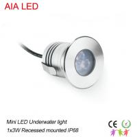Best Stainless steel 3x1W LED RGB Underwater light /led underground lamp for swimming pool wholesale