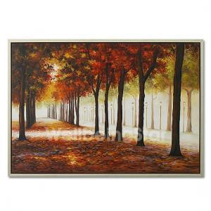 Best Original oil painting Bumo plein air Landscape canvas trees impressionist art wholesale