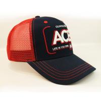 Best Anniversary Red Mesh 5 Panel Trucker Cap Custom Logo 3D Letter Embroidery Blank wholesale