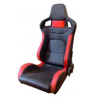Best Comfortable PU Leather Sport Auto Racing Seats / Black And Red Racing Seats wholesale