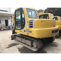 KOMATSU PC60-7 Second Hand Excavators 450mm Track Shoes Size Blade Available A/C