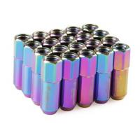 Best Neo Chrome Racing Wheel Nuts 12 x 1.5 for Acura , Toyota , Mazda , Buick , Ford wholesale