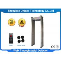 China Walk Though Metal Detecting System Archway Metal Detector Security Gate LCD Display on sale