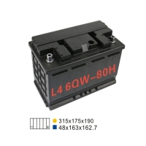 Best 6 Qw 80H Stop And Start Battery 20HR 80AH 660A Lead Acid Automotive Battery wholesale