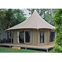 Best Large Luxury Glamping Safari Hotel Bell Tent 1 Years Warranty wholesale