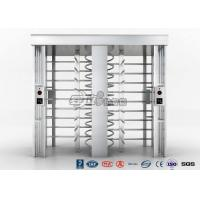 Cheap Automatic Security Full Height Turnstile Double Lane With Impact Resistance for sale