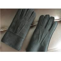 Best Windproof Dark Grey Warmest Sheepskin Gloves Soft Touching Screen For Iphone wholesale