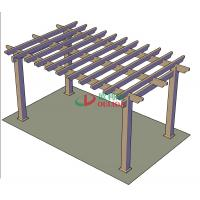 Best DIY Recyclable 100% Pergola Canopy Kit , Free Standing Pergola With Canopy Color Stability wholesale