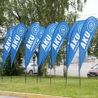 Best Wind personalized single sided Teardrop Flag Banner with poles + spike base wholesale