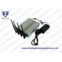 Best 20% - 95% RH Remote Control Signal Jammer , Cell Phone Signal Blocker Device 60 Meters wholesale