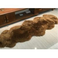 Best Real Sheepskin Rug Home Design Real Animal Fur Factory Direct Sale Dyed Brown wholesale