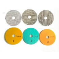 Best White 3 Steps 4 Inch Wet Diamond Polishing Pads For Stone / Marble wholesale
