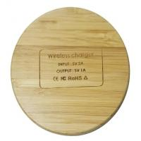 Best Environmental Bamboo Made Seamless 10W fast Charging Portable Wireless Charger 9V 2-3A wholesale