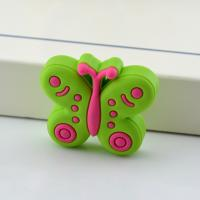 China Colorful Butterfly Industrial Plastic Knob for Kids Small Soft Rubber Drawer Knobs on sale