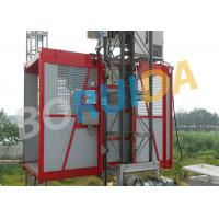 Best Red Construction Material Hoist Single Cage , Electric Ladder Lift wholesale