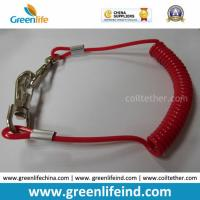 Best Solid Red Spiral Coil Tool W/Hooks Tether 4mm Cord Dia wholesale
