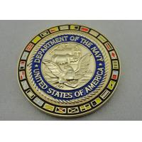 Gold Plating Personalized Navy Coin for Awards / Souvenir / Holiday, Rope Edge Coin