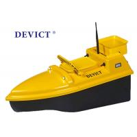 Best Yellow Rc Boat With Fish Finder , DEVC-103 Remote Control Bait Boat 4 class product for fishing wholesale