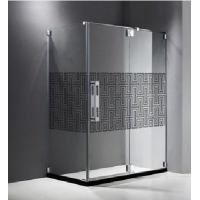Best Optic White Glass Shower Partition , Simple Tempered Glass For Hotel wholesale
