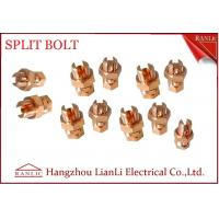 Cheap High Strength Brass Electrical Wiring Accessories / Yellow Split Bolt Connectors for sale