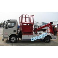 Cheap White color Dongfeng 4x2 tow truck wrecker with 10M aerial working platform for for sale