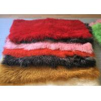 Best Dyed Color Soft Skin Mongolian Sheepskin Rug 60 *120cm For Garment Shoes wholesale