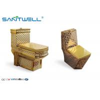 Best Sanitaryware Golden Ceramic Toilet  SWC1611 700*400*760 Mm One Piece wholesale
