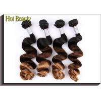 Best Ombre 3 Tone Natural Wave Peruvian Human Hair Full And Thick Ends For Lady wholesale