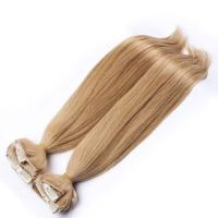 Best Brazilian Straight Clipped In Hair Extensions Golden Blonde For Woman wholesale