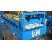 China Roof Tile Trapezoidal Sheet Roll Forming Machine 15 Rows 1.32 Inch Chain Driving on sale