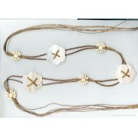 China braided cotton waxed cord belt  with shell belt on sale