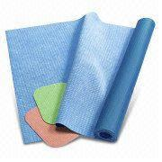 Best YM015-1Micro Fiber Rubber Mat for Hot Yoga Use, Customized Colors are Accepted wholesale