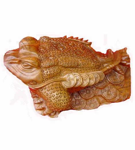 Cheap Wooden Handicraft Woodcarving Fortune toad for sale