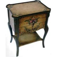 Best Three Drawers Side Table with Hand-Painted Flowers Design wholesale