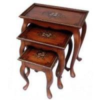 Best Nesting Table with Hand-Painted Floral Pattern wholesale